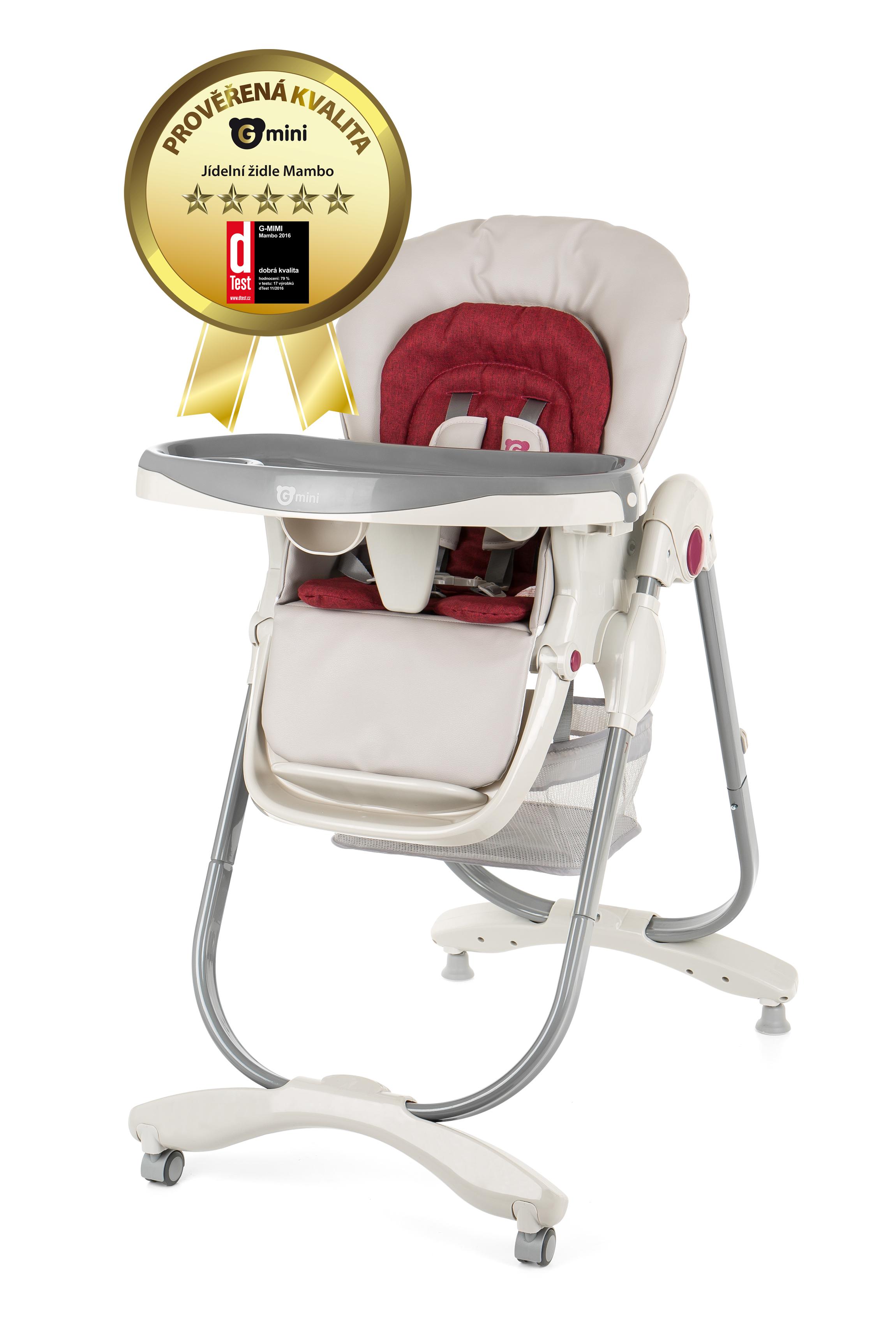 4edb2dae54bb G-MINI Detská jedálenská stolička Mambo – ruby – BABY PLAZA